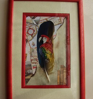 peinture sur plumes
